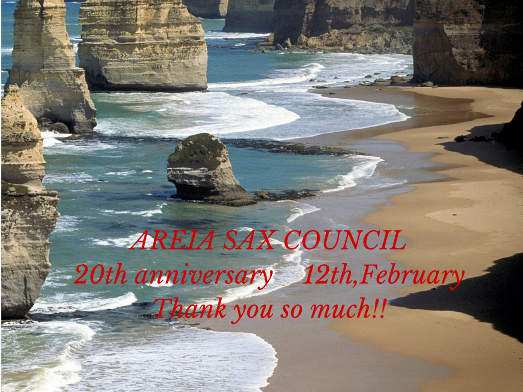 Areia Sax Council 20th Anniversary